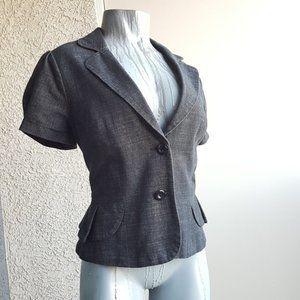 AGB Denim Short Sleeve Professional Fitted Blazer